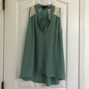 Mint Green Tunic with lace details